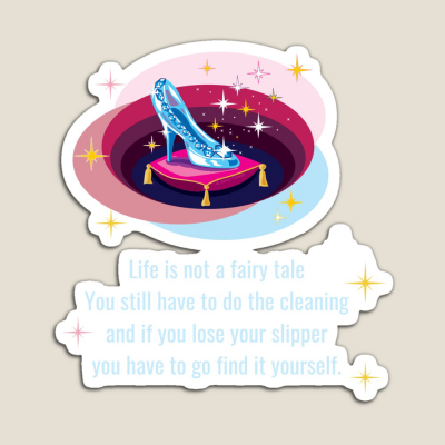 Glass Slipper, Savvy Cleaner Funny Cleaning Gifts, Cleaning magnet