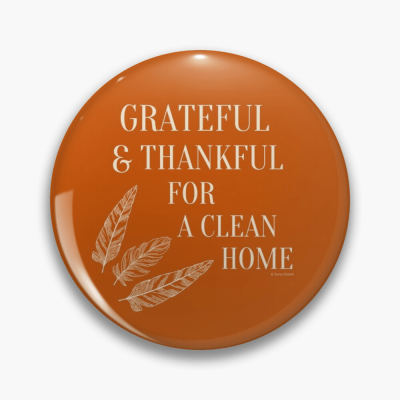 Grateful for a Clean Home, Savvy Cleaner, Funny Cleaning Gifts, Cleaning Button