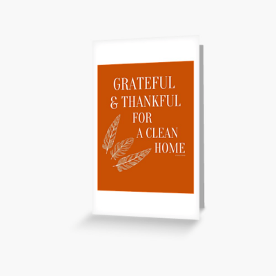 Grateful for a Clean Home, Savvy Cleaner, Funny Cleaning Gifts, Cleaning Greeting Card