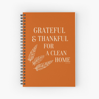 Grateful for a Clean Home, Savvy Cleaner, Funny Cleaning Gifts, Cleaning Spiral Notepad