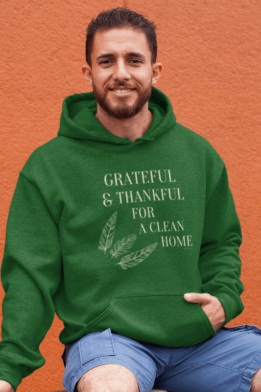 classic pullover hoodie grateful for a clean home