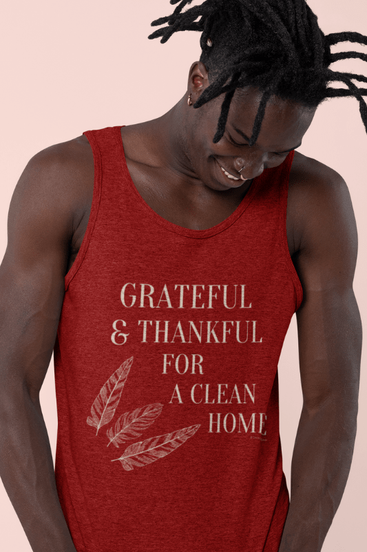 premium tank top grateful for a clean home