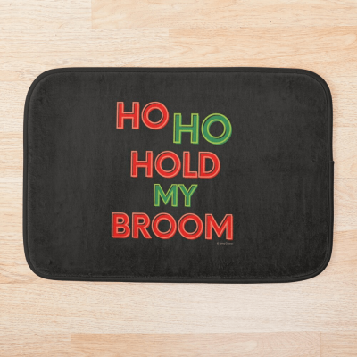 Ho Ho Hold My Broom, Savvy Cleaner Funny Cleaning Gifts, Cleaning Bathmat