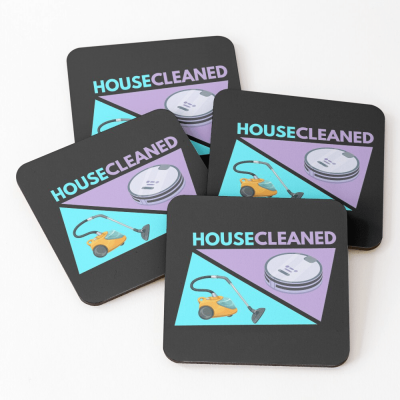 House Cleaned, Savvy Cleaner Funny Cleaning Gifts, Cleaning Coasters