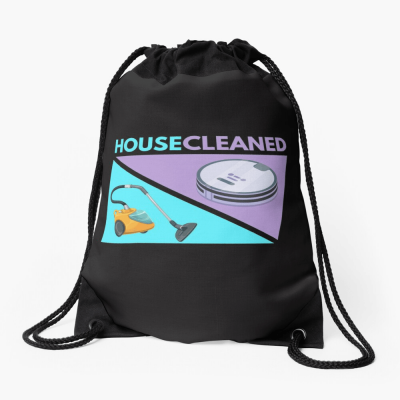 House Cleaned, Savvy Cleaner Funny Cleaning Gifts, Cleaning Drawstring Bag