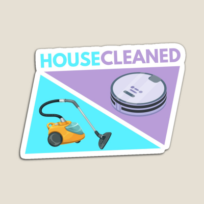 House Cleaned, Savvy Cleaner Funny Cleaning Gifts, Cleaning Magnet