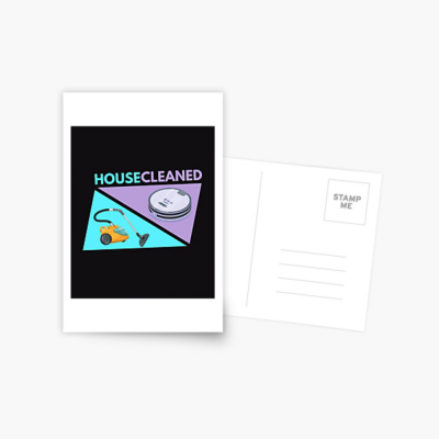 House Cleaned, Savvy Cleaner Funny Cleaning Gifts, Cleaning Postcard