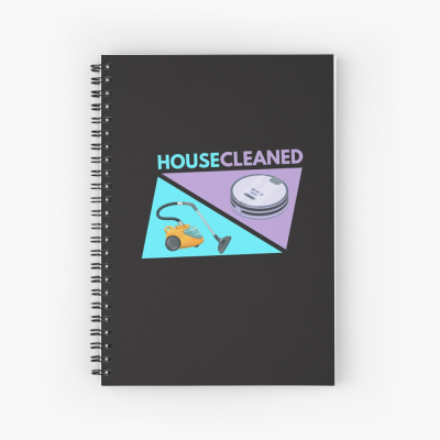 House Cleaned, Savvy Cleaner Funny Cleaning Gifts, Cleaning Spiral Notepad