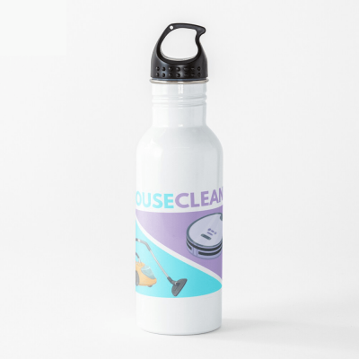 House Cleaned, Savvy Cleaner Funny Cleaning Gifts, Cleaning Water Bottle