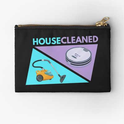 House Cleaned, Savvy Cleaner Funny Cleaning Gifts, Cleaning Zipper Bag