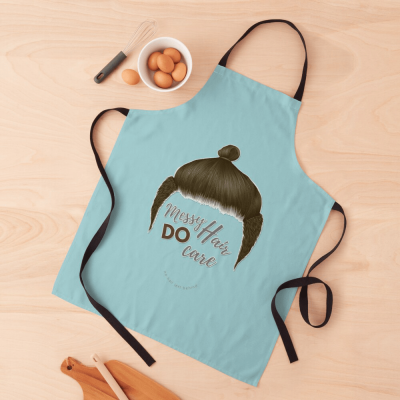 Messy Hair Do Care, Savvy Cleaner Funny Cleaning Gifts, Cleaning Apron