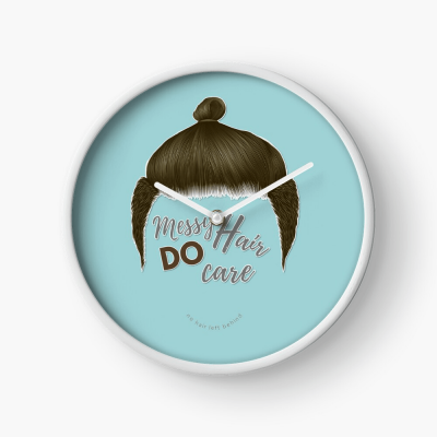 Messy Hair Do Care, Savvy Cleaner Funny Cleaning Gifts, Cleaning Clock