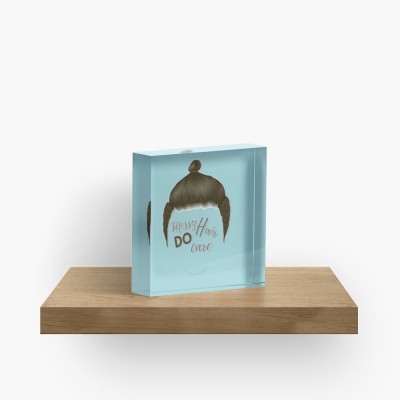 Messy Hair Do Care, Savvy Cleaner Funny Cleaning Gifts, Cleaning Collectible Cube
