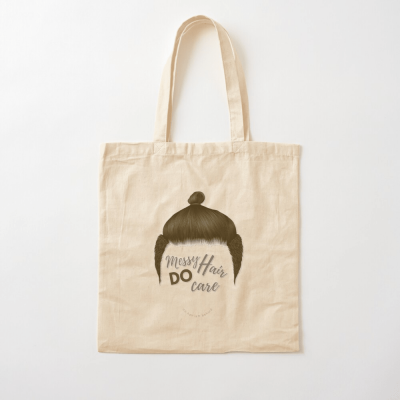 Messy Hair Do Care, Savvy Cleaner Funny Cleaning Gifts, Cleaning Cotton Tote Bag