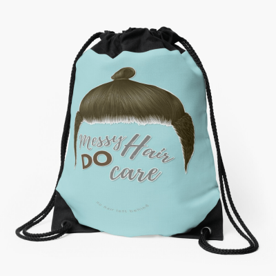 Messy Hair Do Care, Savvy Cleaner Funny Cleaning Gifts, Cleaning Drawstring Bag