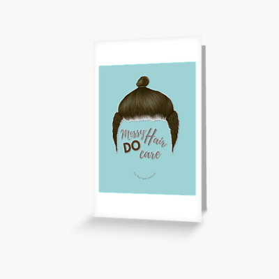 Messy Hair Do Care, Savvy Cleaner Funny Cleaning Gifts, Cleaning Greeting Card