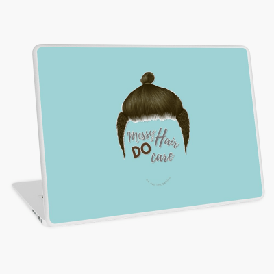 Messy Hair Do Care, Savvy Cleaner Funny Cleaning Gifts, Cleaning Laptop Skin