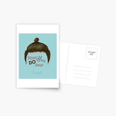 Messy Hair Do Care, Savvy Cleaner Funny Cleaning Gifts, Cleaning Postcard