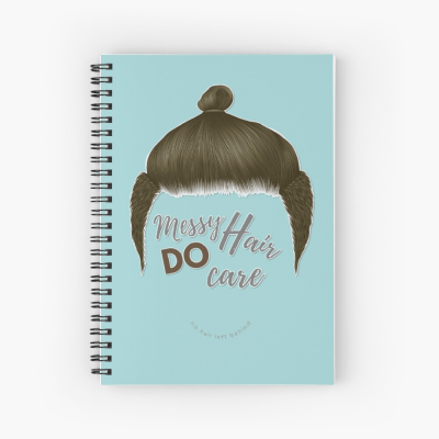 Messy Hair Do Care, Savvy Cleaner Funny Cleaning Gifts, Cleaning Spiral Notepad