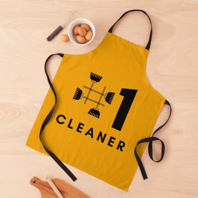 No 1 Cleaner, Savvy Cleaner Funny Cleaning Gifts, Cleaning Apron