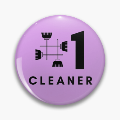 No 1 Cleaner, Savvy Cleaner Funny Cleaning Gifts, Cleaning Button