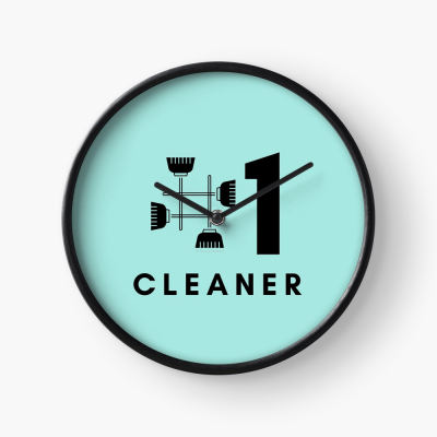 No 1 Cleaner, Savvy Cleaner Funny Cleaning Gifts, Cleaning Clock