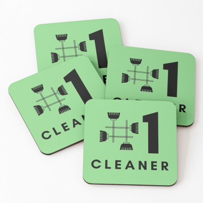 No 1 Cleaner, Savvy Cleaner Funny Cleaning Gifts, Cleaning Coasters