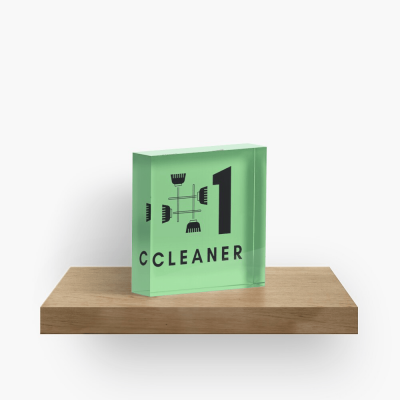 No 1 Cleaner, Savvy Cleaner Funny Cleaning Gifts, Cleaning Collectible Cube