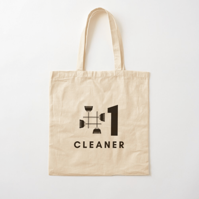 No 1 Cleaner, Savvy Cleaner Funny Cleaning Gifts, Cleaning Cotton Tote Bag