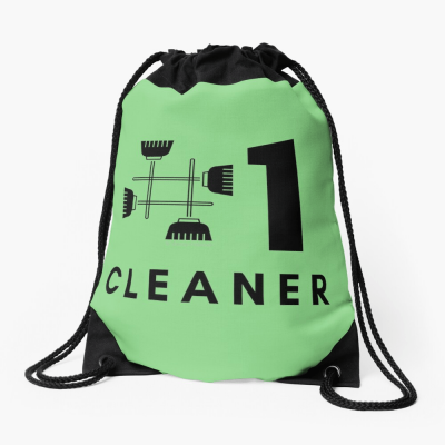 No 1 Cleaner, Savvy Cleaner Funny Cleaning Gifts, Cleaning Drawstring Bag