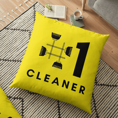 No 1 Cleaner, Savvy Cleaner Funny Cleaning Gifts, Cleaning Floor Pillow