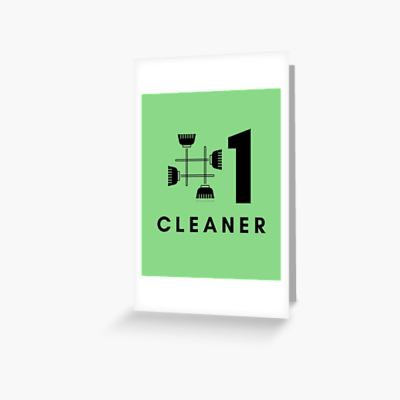 No 1 Cleaner, Savvy Cleaner Funny Cleaning Gifts, Cleaning Greeting Card