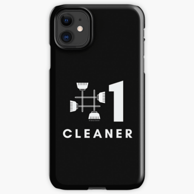 No 1 Cleaner, Savvy Cleaner Funny Cleaning Gifts, Cleaning Iphone Case