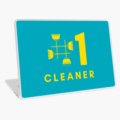 No 1 Cleaner, Savvy Cleaner Funny Cleaning Gifts, Cleaning Laptop Skin