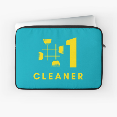 No 1 Cleaner, Savvy Cleaner Funny Cleaning Gifts, Cleaning Laptop Sleeve