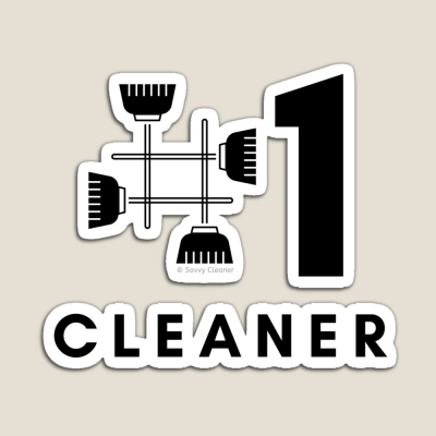 No 1 Cleaner, Savvy Cleaner Funny Cleaning Gifts, Cleaning Magnet