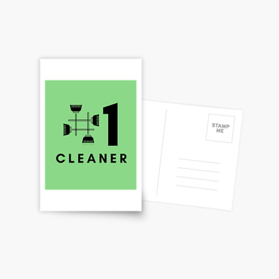 No 1 Cleaner, Savvy Cleaner Funny Cleaning Gifts, Cleaning Postcard