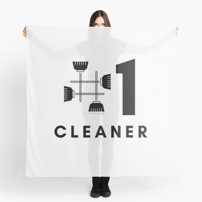No 1 Cleaner, Savvy Cleaner Funny Cleaning Gifts, Cleaning Scarf