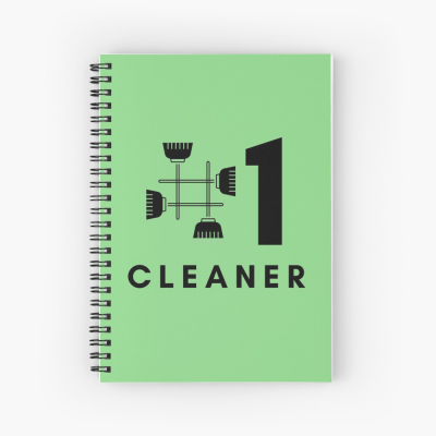 No 1 Cleaner, Savvy Cleaner Funny Cleaning Gifts, Cleaning Spiral Notepad