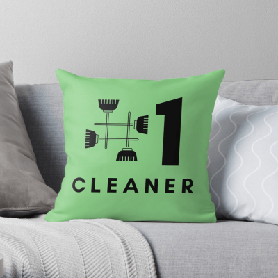 No 1 Cleaner, Savvy Cleaner Funny Cleaning Gifts, Cleaning Throw Pillow