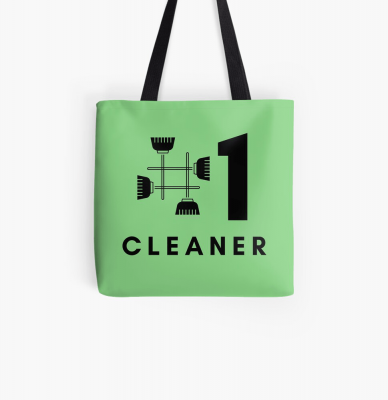 No 1 Cleaner, Savvy Cleaner Funny Cleaning Gifts, Cleaning Tote Bag
