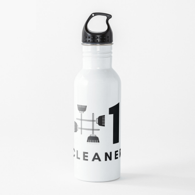 No 1 Cleaner, Savvy Cleaner Funny Cleaning Gifts, Cleaning Water Bottle