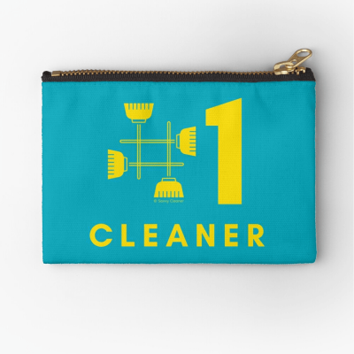 No 1 Cleaner, Savvy Cleaner Funny Cleaning Gifts, Cleaning Zipper Bag