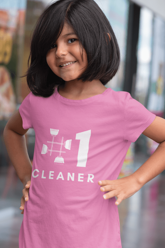 No 1 Cleaner, Savvy Cleaner Funny Cleaning Shirts, Kids Premium T-Shirt
