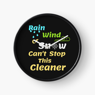 Rain Wind or Snow, Savvy Cleaner, Funny Cleaning Gifts, Cleaning Clock