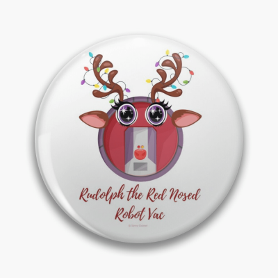 Rudolph the Red Nosed Robot Vac, Savvy Cleaner Funny Cleaning Gifts, Cleaning Button