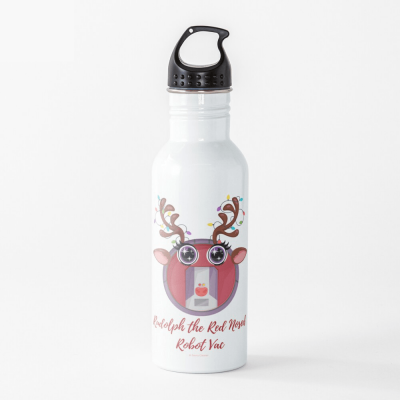 Rudolph the Red Nosed Robot Vac, Savvy Cleaner Funny Cleaning Gifts, Cleaning Water Bottle