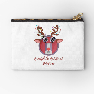 Rudolph the Red Nosed Robot Vac, Savvy Cleaner Funny Cleaning Gifts, Cleaning Zipper Bag