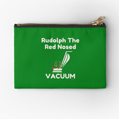 Rudolph the Red Nosed Vacuum, Savvy Cleaner Funny Cleaning Gifts, Cleaning Zipper Bag