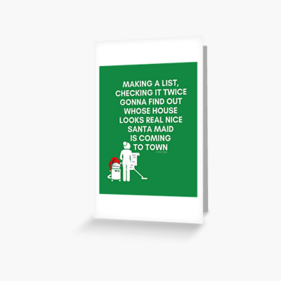 Santa Maid, Savvy Cleaner Funny Cleaning Gifts, Cleaning Greeting Card